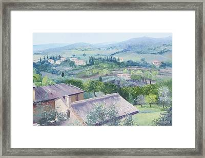 The Rolling Hills Of Tuscany Framed Print
