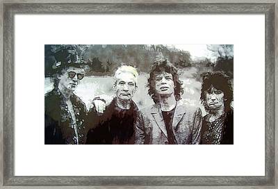 The Rolling Stones Framed Print by Daniel Hagerman