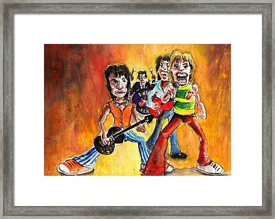 The Rolling Stones In Spain Framed Print