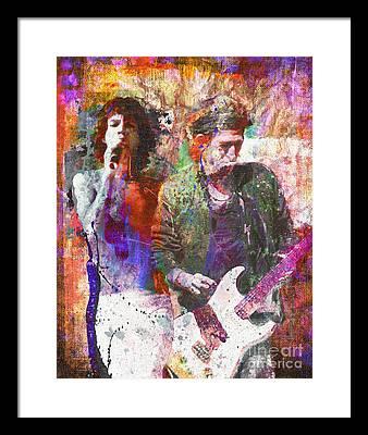 Mick Jagger Rock Art Framed Prints