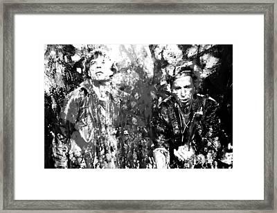 The Rolling Stones Paint Splash 2a Framed Print