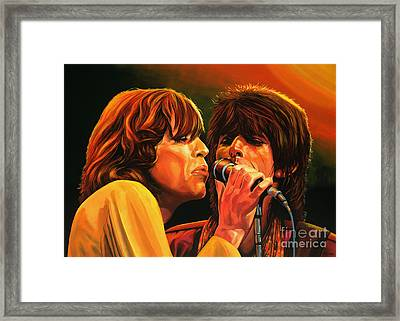 The Rolling Stones Framed Print by Paul Meijering