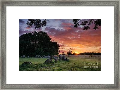 The Rollright Stones Sunrise Framed Print by Tim Gainey
