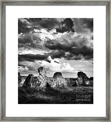 The Rollright Stones Framed Print