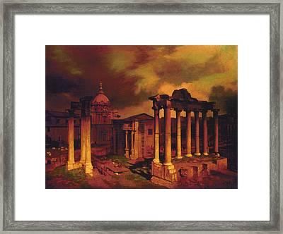 The Roman Forum Framed Print by Blue Sky