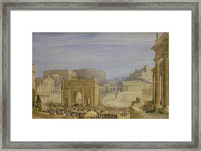 The Roman Forum Framed Print by Francis Vyvyan Jago Arundale
