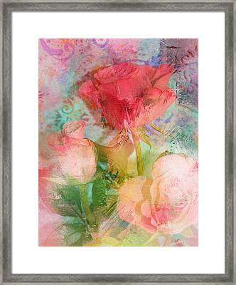 The Romance Of Roses Framed Print by Carla Parris