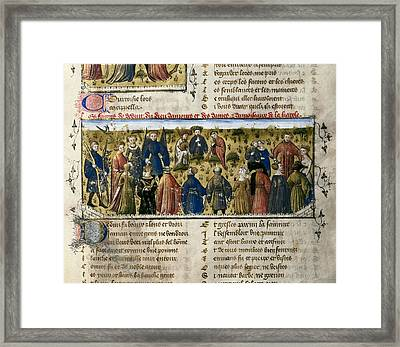 The Romance Of The Rose. S.xiv. Court Framed Print by Everett