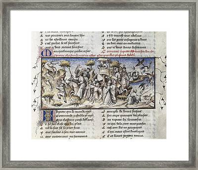 The Romance Of The Rose. S.xiv. Hunting Framed Print by Everett