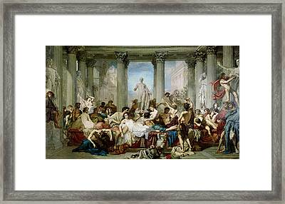 The Romans Of The Decadence, 1847 Oil On Canvas Framed Print by Thomas Couture