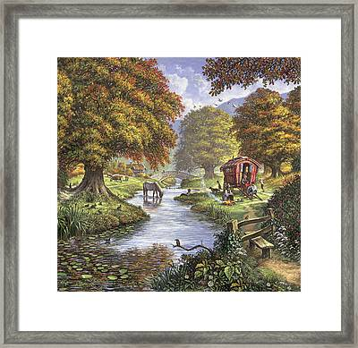 The Romany Camp Framed Print