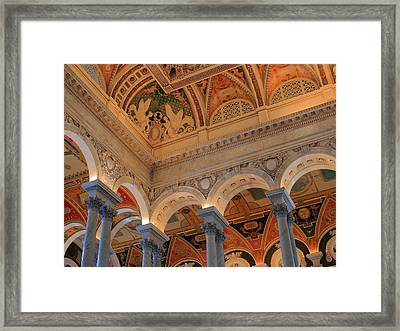 The Roof Above Jefferson's Books  Framed Print