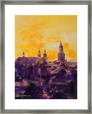 The Roofs Of Lublin Framed Print