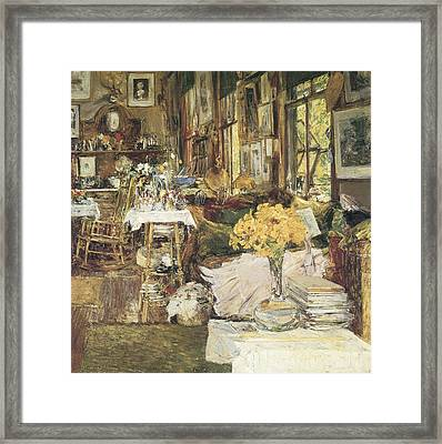 The Room Of Flowers Framed Print by Childe Hassam