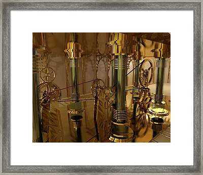 The Room Of Gears Framed Print by James Christopher Hill