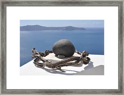 The Root Of Santorini Framed Print
