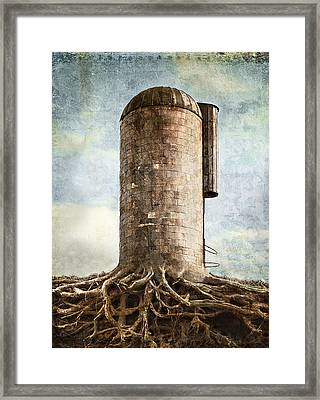 The Roots Of The Farm Framed Print by Rick Mosher