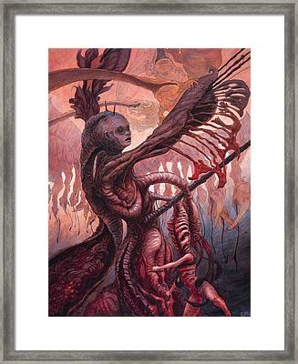 The Ropes And Rabbles Of The Depths  Framed Print by Ethan Harris
