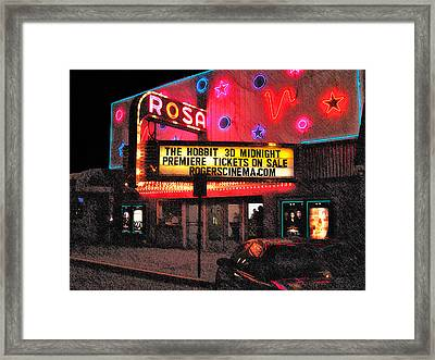 The Rosa Framed Print by David Blank