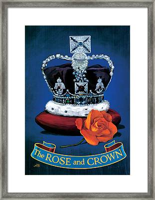 The Rose & Crown Framed Print by Peter Green