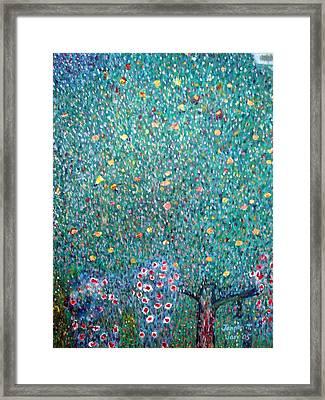 The Rose Bushes  Framed Print by Janpen Sherwood