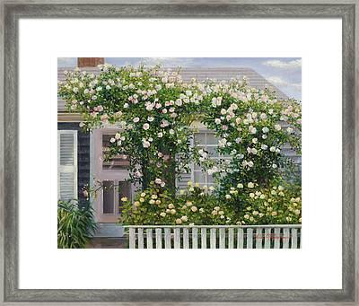 The Rose Covered Cottage 2 Framed Print