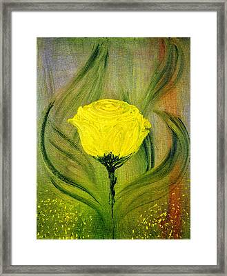 Framed Print featuring the painting The Rose by Evelina Popilian