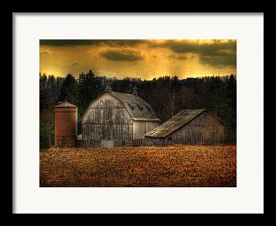 Brick Silos Framed Prints