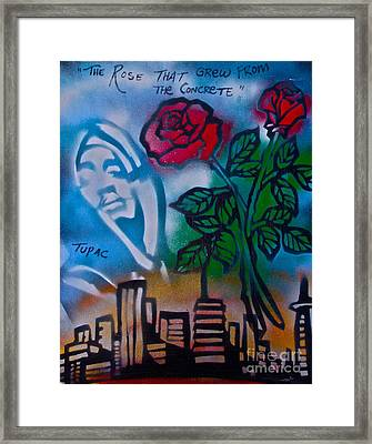 The Rose From The Concrete Framed Print by Tony B Conscious