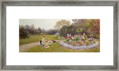 The Rose Garden Framed Print by Thomas James Lloyd