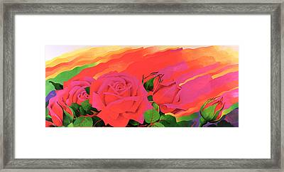 The Rose In The Festival Of Light Framed Print