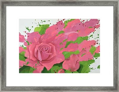 The Rose, In The Festival Of Light Framed Print