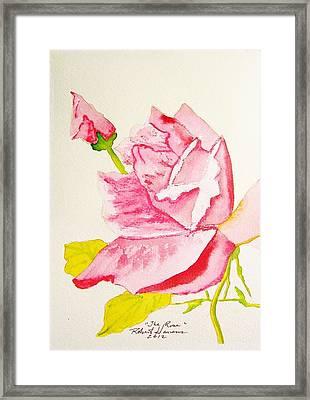 The Rose Framed Print by Robert  ARTSYBOB Havens