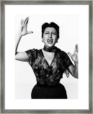 The Rose Tattoo, Anna Magnani, 1955 Framed Print