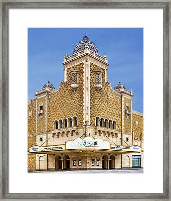 The Rose - Theater - Omaha Nebraska Framed Print by Nikolyn McDonald