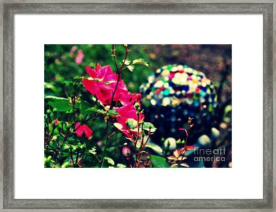Framed Print featuring the photograph The Rose's Ball by Mindy Bench