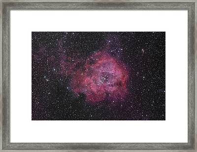 The Rosette Nebula Framed Print by Brian Peterson