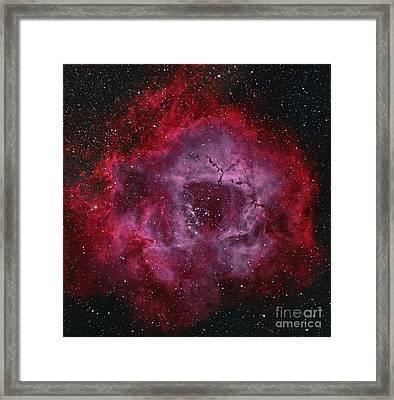 The Rosette Nebula Framed Print by Michael Miller