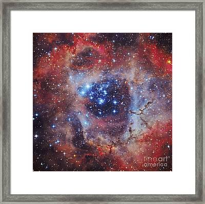 The Rosette Nebula Framed Print by Roberto Colombari