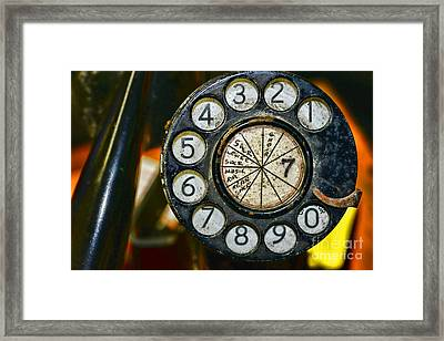 The Rotary Dial Framed Print by Paul Ward