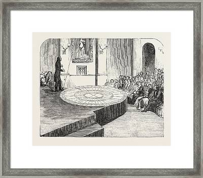 The Rotation Of The Earth Made Visible, At The Polytechnic Framed Print