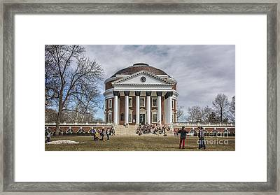The University Of Virginia Rotunda Framed Print