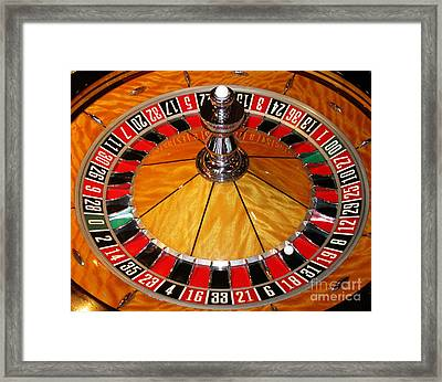 The Roulette Wheel Framed Print