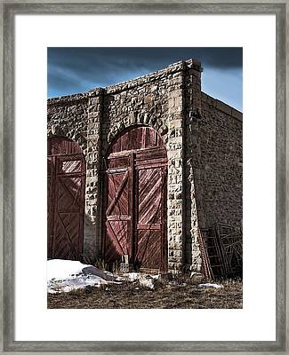 The Roundhouse Door Framed Print