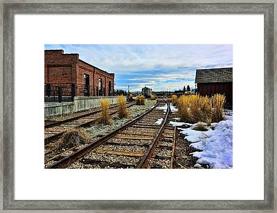 The Roundhouse Evanston Wyoming - 5 Framed Print by Ely Arsha