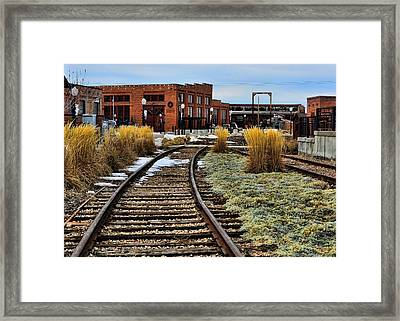The Roundhouse Evanston Wyoming - 6 Framed Print by Ely Arsha