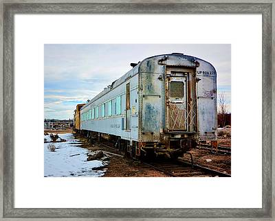 The Roundhouse Evanston Wyoming Dining Car - 1 Framed Print by Ely Arsha