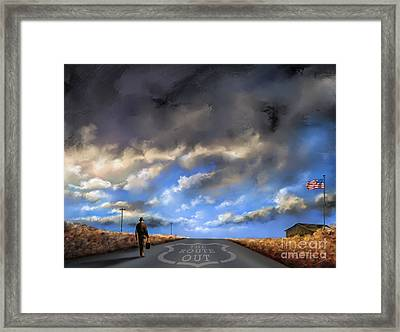 The Route Out Framed Print