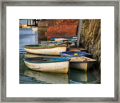 Framed Print featuring the photograph The Rowboats Of Folkestone by Tim Stanley