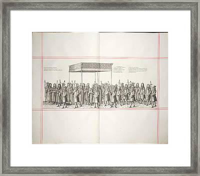 The Royal Canopy Framed Print by British Library